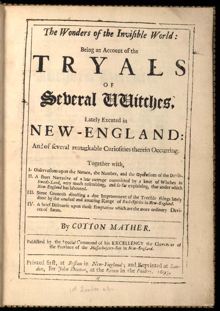 Salem witchcraft trials research paper
